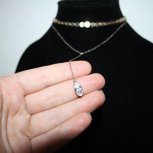 Vintagejelyfish Jewelry - Beautiful gold and silver cz choker drop necklace